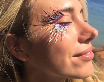 Pink festival eyelashes! Perfect for burning man, halloween & unicorns