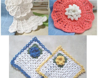 Dishcloth Collection Crochet Pattern PDF