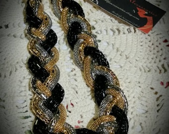 After Life Accessories Handmade Gold Silver Black Plated Chain Twist Necklace