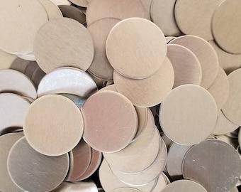 Aluminum Discs - 14 Gauge, stamping blanks, metal blanks, aluminum blanks, stamping discs, stamping rounds, hypo-allergenic, food safe