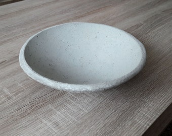 "Concrete bowl ""Concrete Bowl #2"" with smooth inner side"