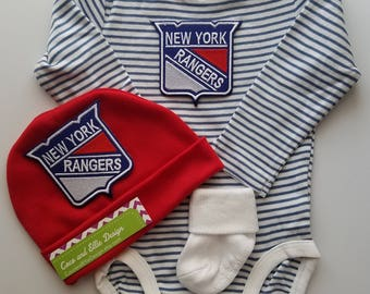 New York Rangers baby outfit-baby new york rangers-ny rangers newborn-ny rangers baby boy shower gift/newborn ny rangers/ny rangers baby