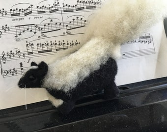 Needle Felted Little Skunk