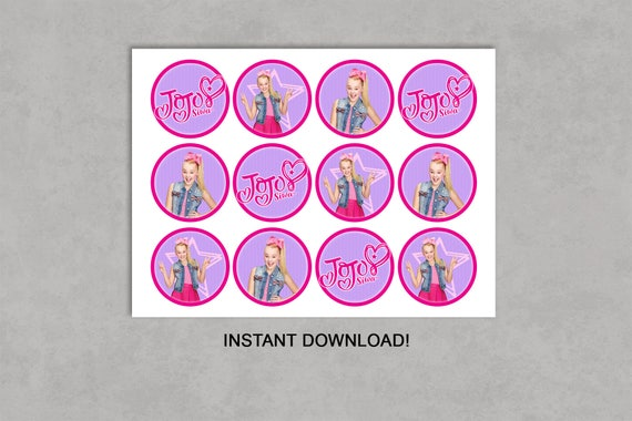 Jojo Siwa Inspired Cupcake Toppers Printable Birthday Diy