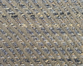 Herringbone - Cobalt Blue - Upholstery Fabric by The Yard