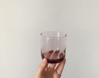 set of 4 amethyst colored rocks glasses