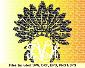 Indian svg headdress svg head dress svg tribal boho svg tribe chief feather distressed monogram svg files for Cricut Silhouette dxf cut file