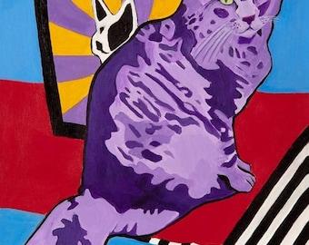 Juno the Purple Cat