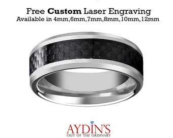 Carbon fiber ring Etsy