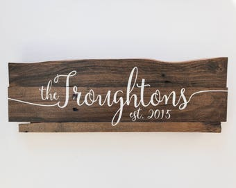 Wooden Sign, Last Name Sign, Personalized Family Name Sign, Rustic Sign, Rustic Wooden Sign
