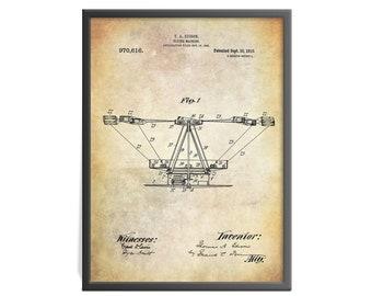 Thomas Edison Flying Machine Patent Art Print - Airplane Patent Art Print - Flight Patent Print - Patent Print