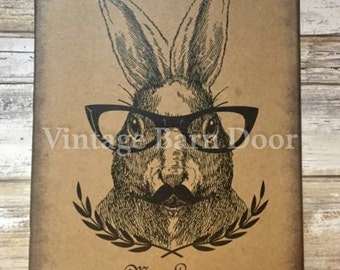 Mr. Lapin - Bunny Rabbit 8x10 Canvas