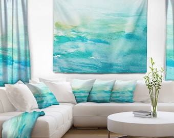 Designart Abstract Sea Close up Abstract Wall Tapestry, Wall Art Fit for Wall Hanging, Dorm, Home Decor