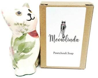 Meowlinda Pawtchouli Soap