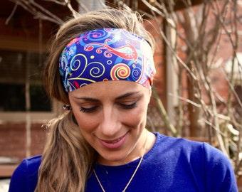 OCEANS ALIVE Yoga Headband, Workout Headband, Best selling Item, Running Headbands, boho headband, womens headband, turban, wide headband