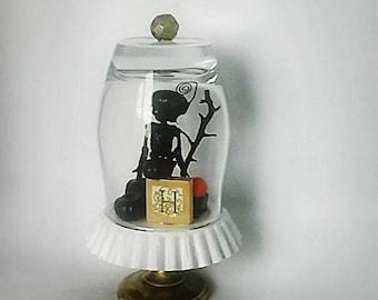 Halloween decorative glass orb