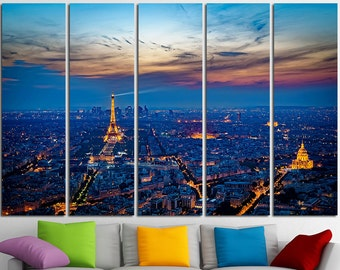 Eiffel Tower Cities Large Canvas Print Wall Art France Wall Art Paris Canvas Art Paris Wall Art City of Love Multi Panel Canvas Print Poster