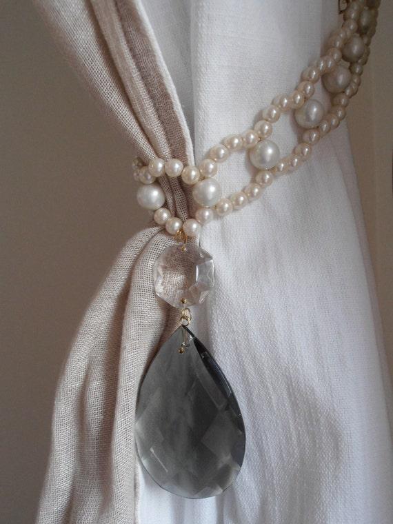 fermatende con imitazione perle e goccia vintage creazioni