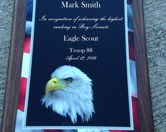 Scout Eagle Award Laser Engraved Plaque #9
