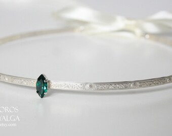 Sterling silver medieval tiara- statement jewelry