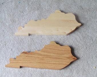 Wooden Kentucky cutting boards