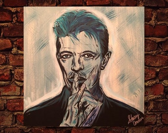 David Bowie Canvas Painting