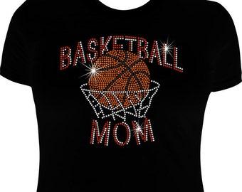 Basketball Mom shirt- Rhinestone-Basketball Mom