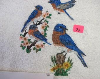 blue bird collage