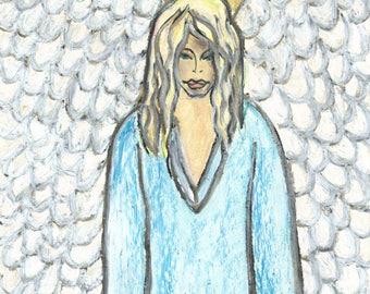ANGEL  ORIGINAL PASTEL drawing