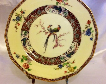 Theodore Haviland Limoges Nabob plate with gold rim