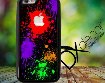 Paint Splatter with iphone Logo, Photo Collage Case, Photo Iphone case, Photo Case, Photo Iphone Cover, iphone 5s, iphone background