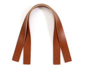 "14.5"" byhands Natural Raw Hide Leather Purse Handles/Bag Strap(24-3702)"
