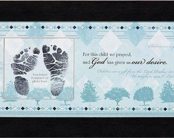 Photo Frame - For This Child I Have Prayed - Boy