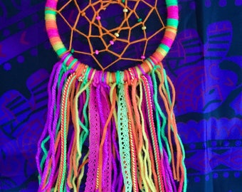 Small Bright, Neon Dreamcatcher