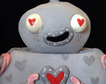 Love Bot Ceramic Sculpture