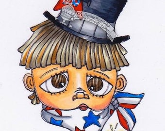 2187 Star Spangled Kid Digi Stamp