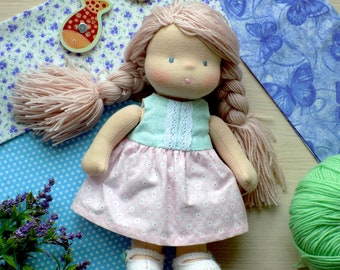"""10"""" (25cm) Waldorf Doll in Clothes Baby Gift"""
