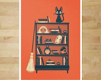 Ghibli Shelf | Miyazaki | 18x24