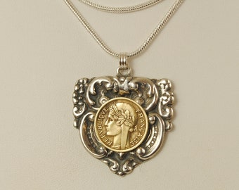 France Coin Necklace 1944