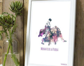 Morante puebla color A4 unframed print