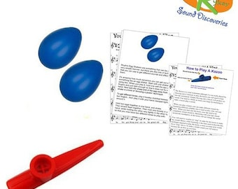 Mommy & Me Learn to Play Educational Music Pack - Rhythm Shakers/Kazoo (A Tisket A Tasket) #RSDMMBSR14