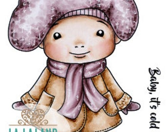 Winter Baby Marci Rubber Stamp