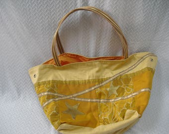 tote bag Tote in yellow fabric