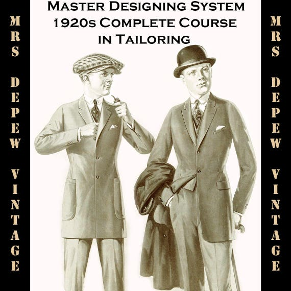 Men's Vintage Reproduction Sewing Patterns 1920s Master Designers System of Cutting Mens Tailoring Pattern Drafting E-Book - INSTANT DOWNLOAD1920s Master Designers System of Cutting Mens Tailoring Pattern Drafting E-Book - INSTANT DOWNLOAD $25.00 AT vintagedancer.com