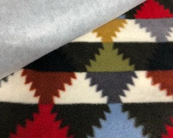 Geometric Throw Blanket Tie Kit Fleece Blanket