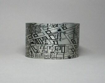 Cleveland Ohio Map Cuff Bracelet Unique Gift for Men or Women