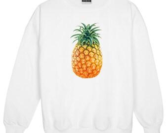 Pineapple Sweater Jumper Womens Ladies Fun Tumblr Hipster Swag Fashion Grunge Retro Top Goth Cute Punk Girls Boho Fruit Summer New Festival