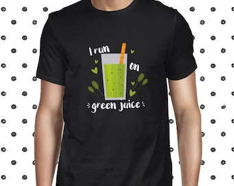 Green Juice T-shirt for Men - Casual T Shirt for Men - Plant-based Green Juice Love Shirt - Vegan Men's Tee - Vegetarian Greens Tee Shirt