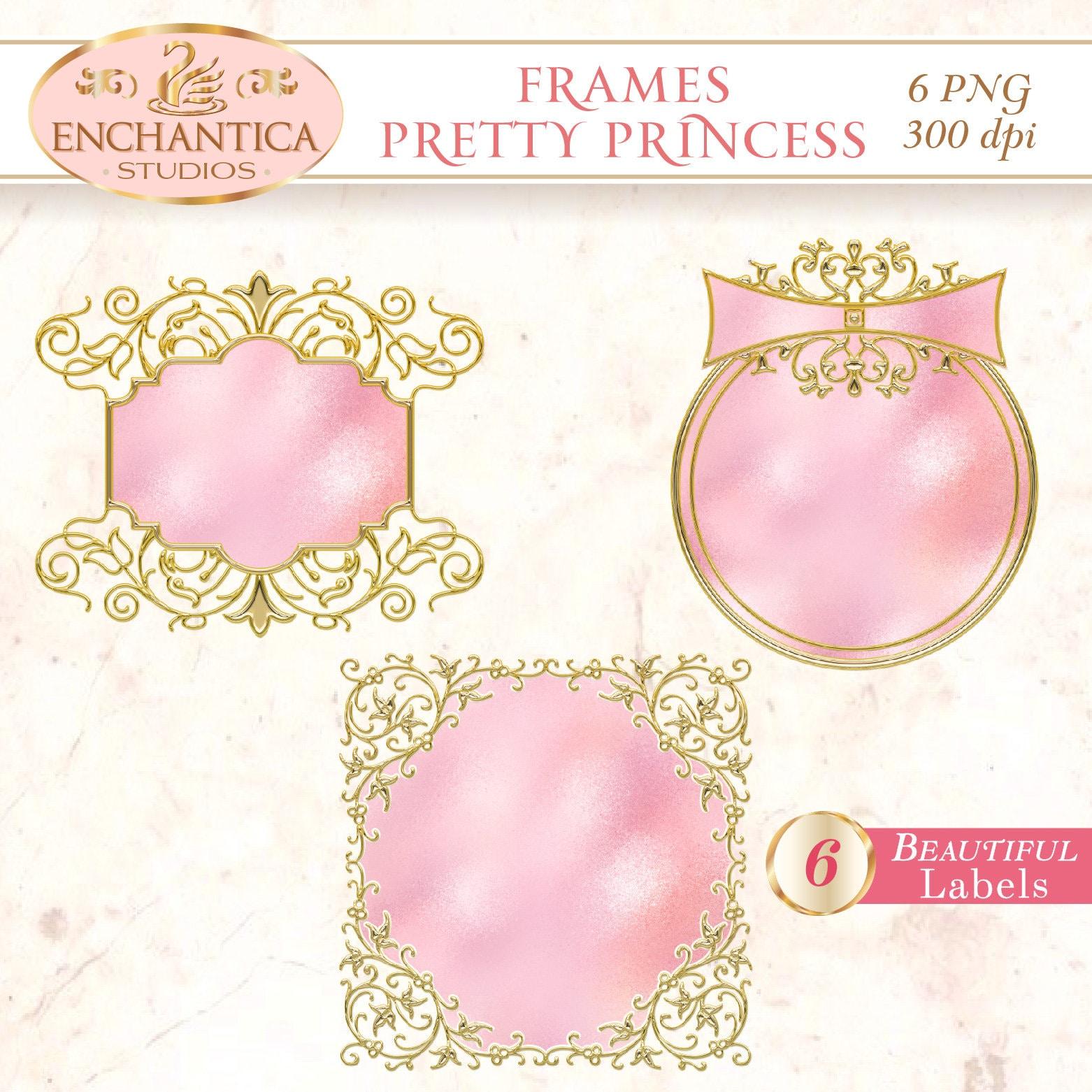 Pink Frame Clipart, Pink Labels, Pink Frame Clip Art, Scrapbooking ...