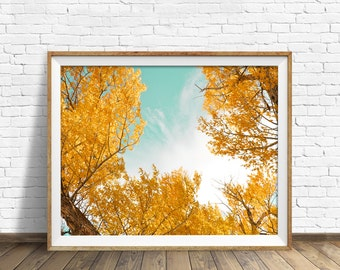"""nature print, instant download, printable art, large art, large wall art, printable wall art, wall art, fall leaves - """"A Part of the Whole"""""""